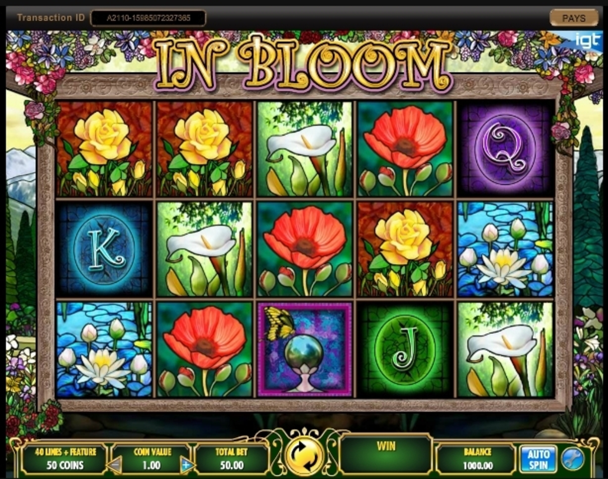 Reels in In Bloom Slot Game by IGT