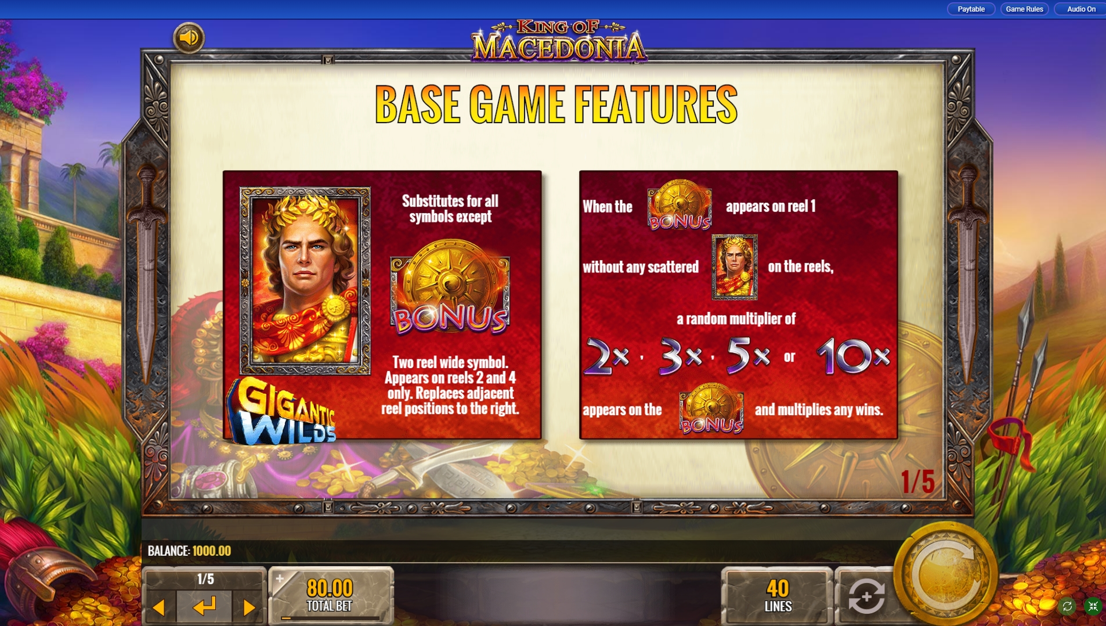 IGT Releases New King Of Macedonia Slot