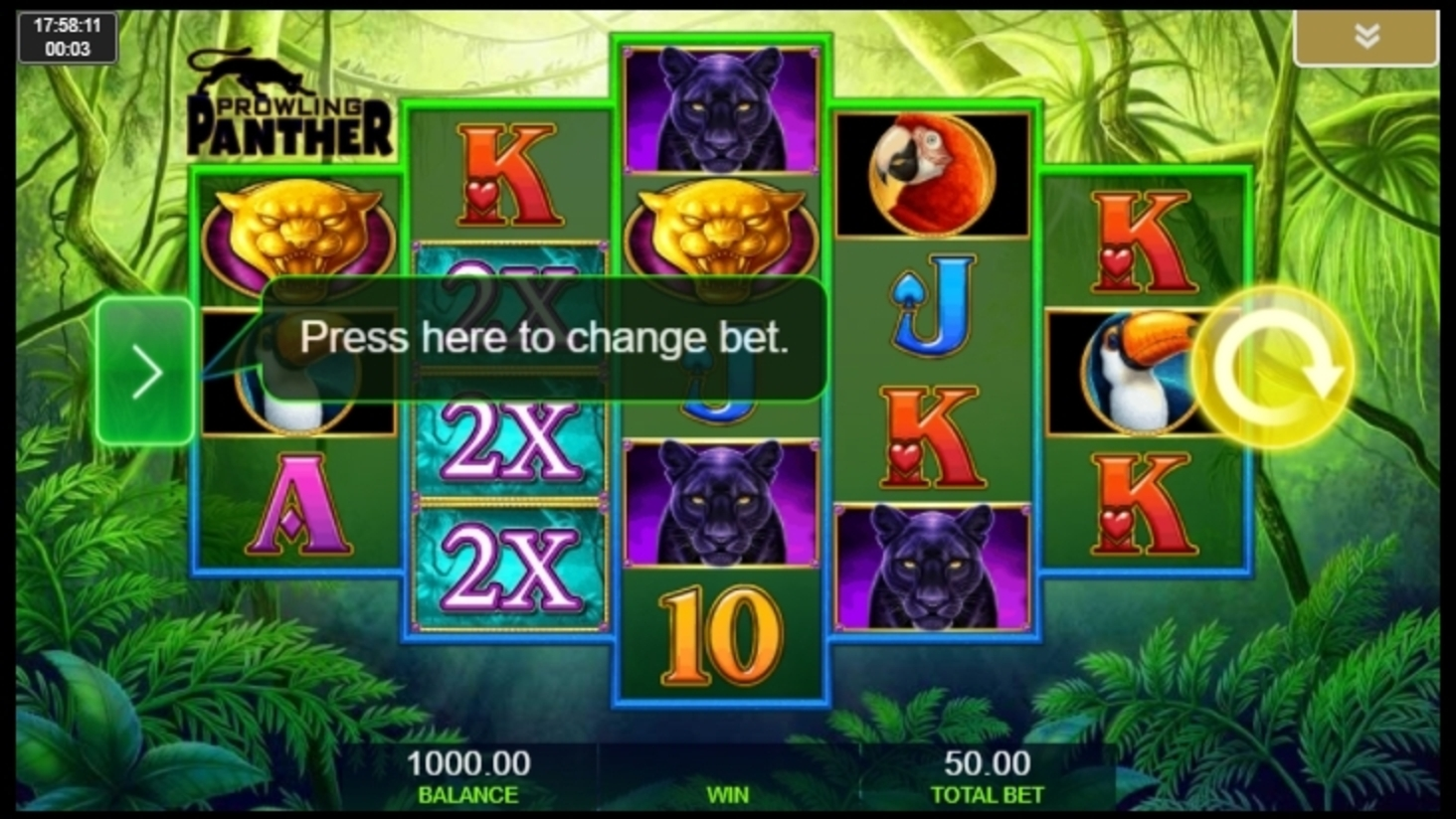 Reels in Prowling Panther Slot Game by IGT