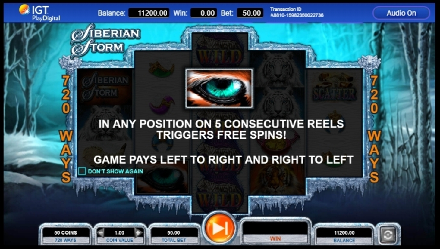 Play Siberian Storm Free Casino Slot Game by IGT