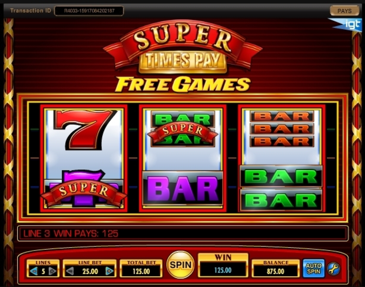 Win Money in Super Times Pay Free Slot Game by IGT
