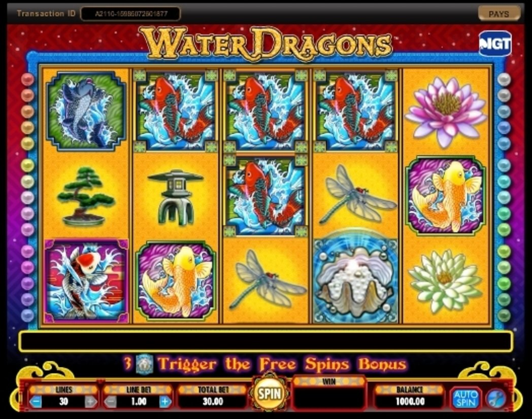 Reels in Water Dragons Slot Game by IGT