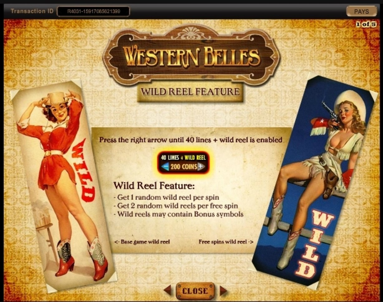 Info of Western Belles Slot Game by IGT