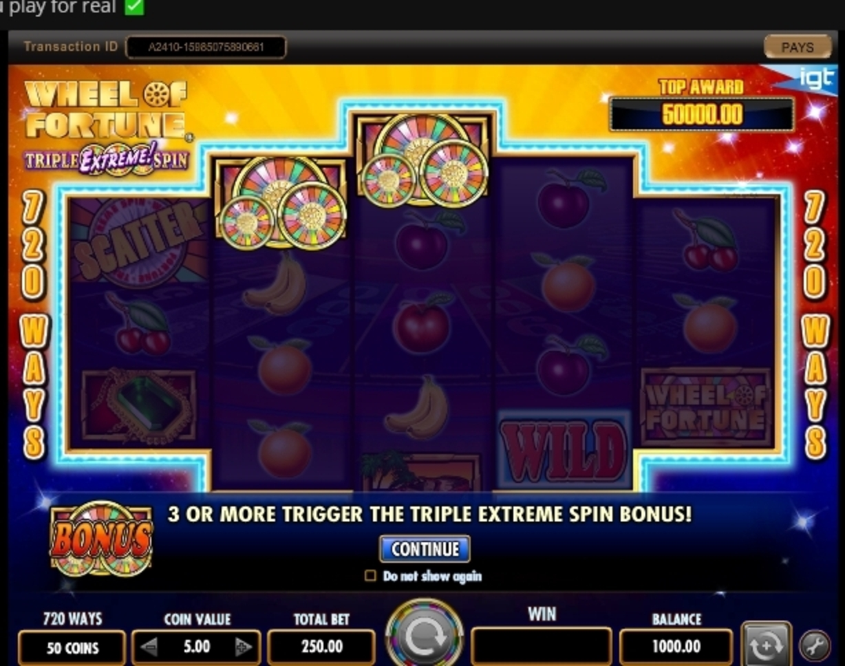 Play Wheel of Fortune Triple Extreme Spin Free Casino Slot Game by IGT
