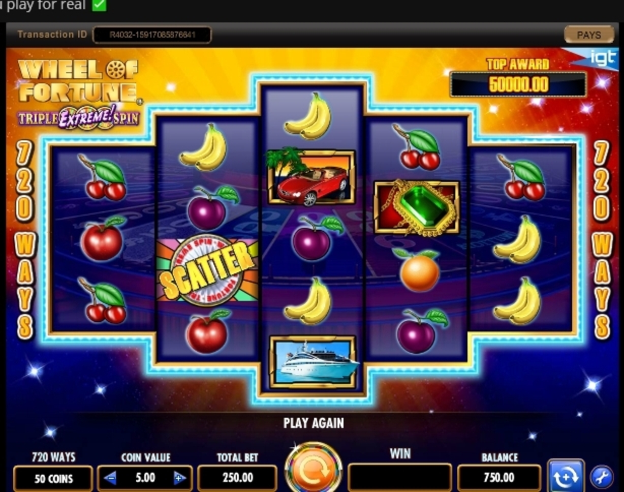 Reels in Wheel of Fortune Triple Extreme Spin Slot Game by IGT