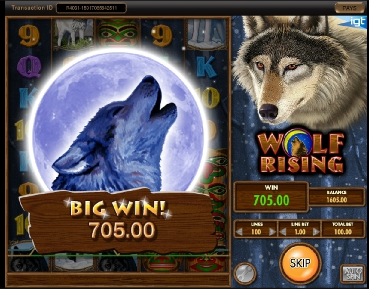 Win Money in Wolf Rising Free Slot Game by IGT