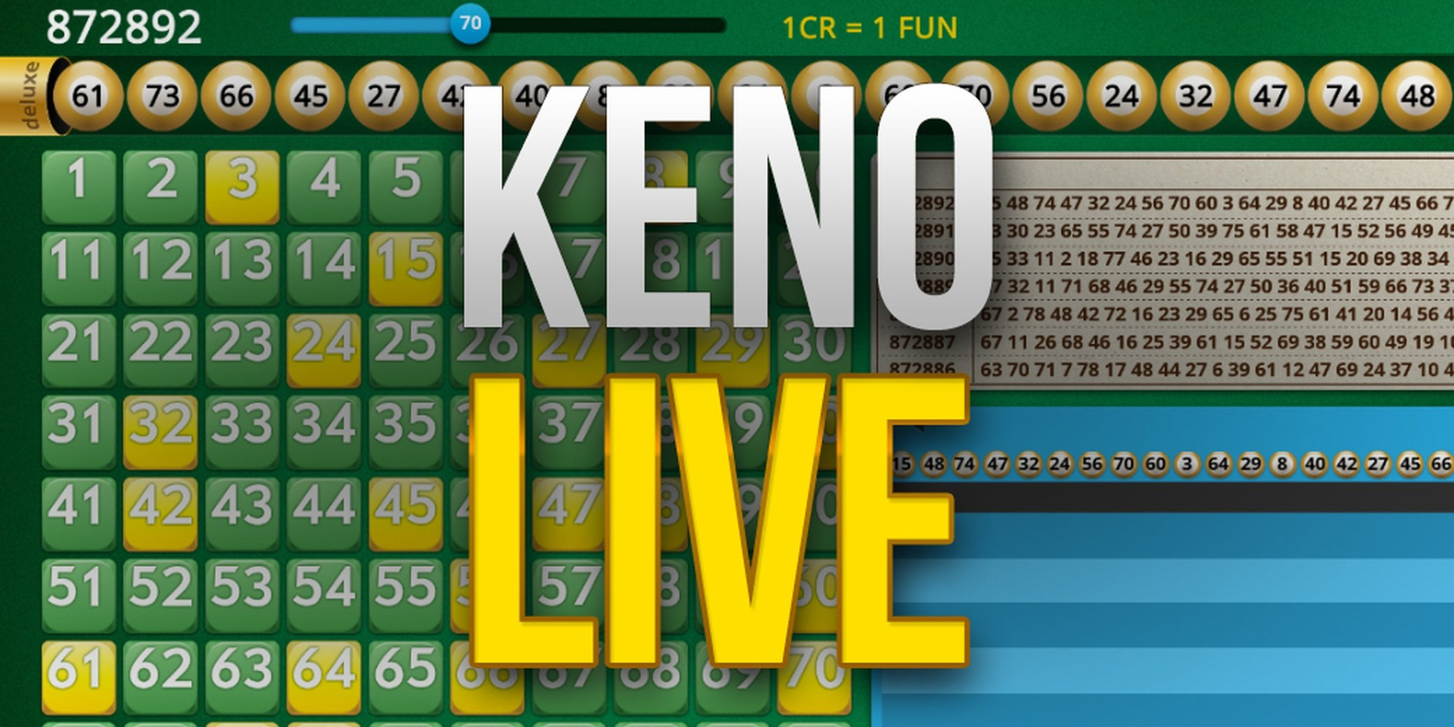 Keno Live (InBet Games) Online Slot Demo Game by Inbet Games
