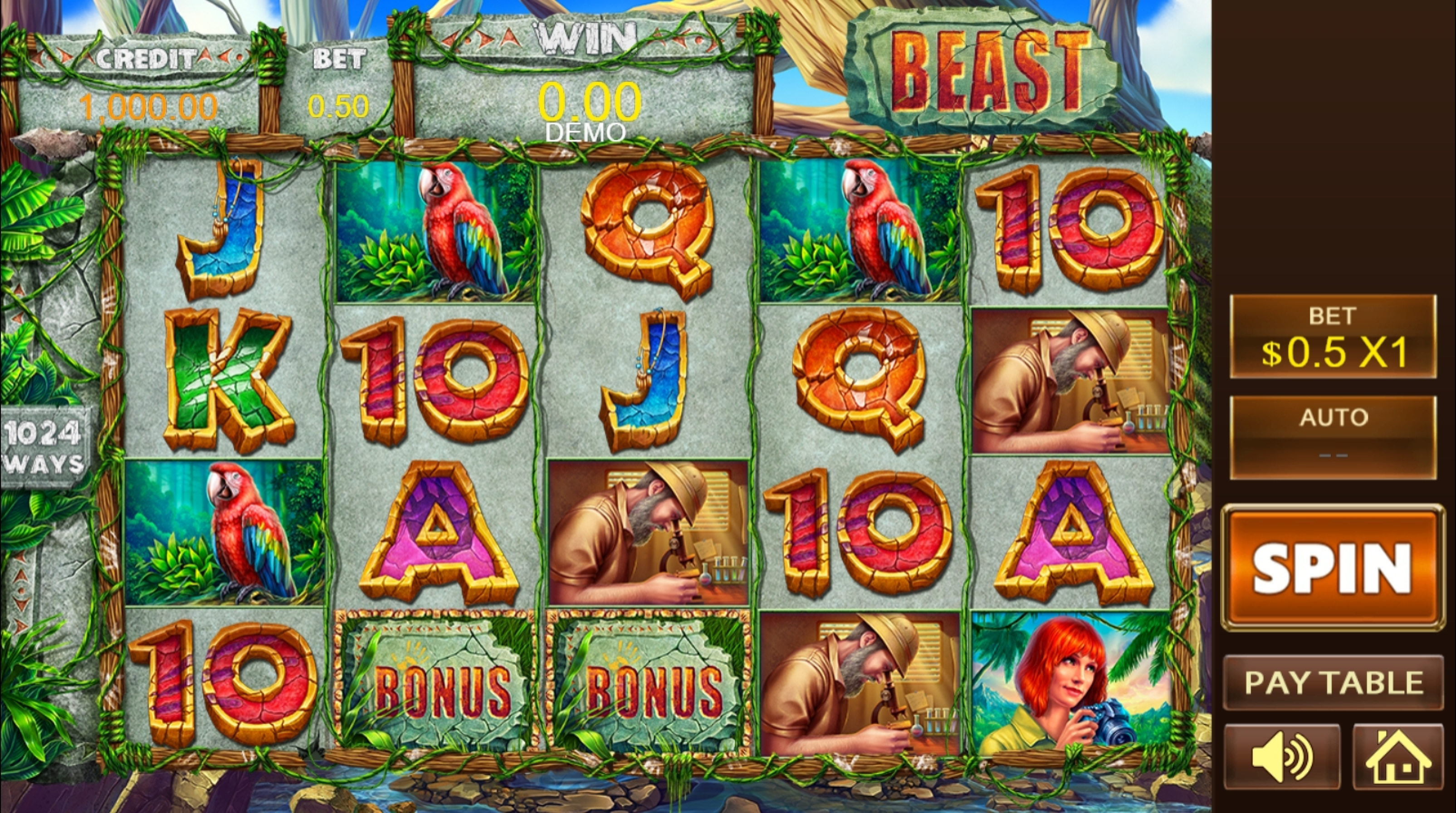 Reels in Beast (PlayStar) Slot Game by PlayStar