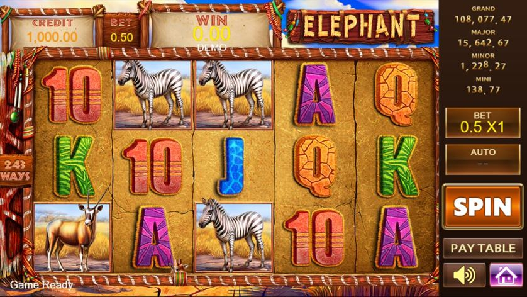 The Elephant (Playstar) Online Slot Demo Game by PlayStar