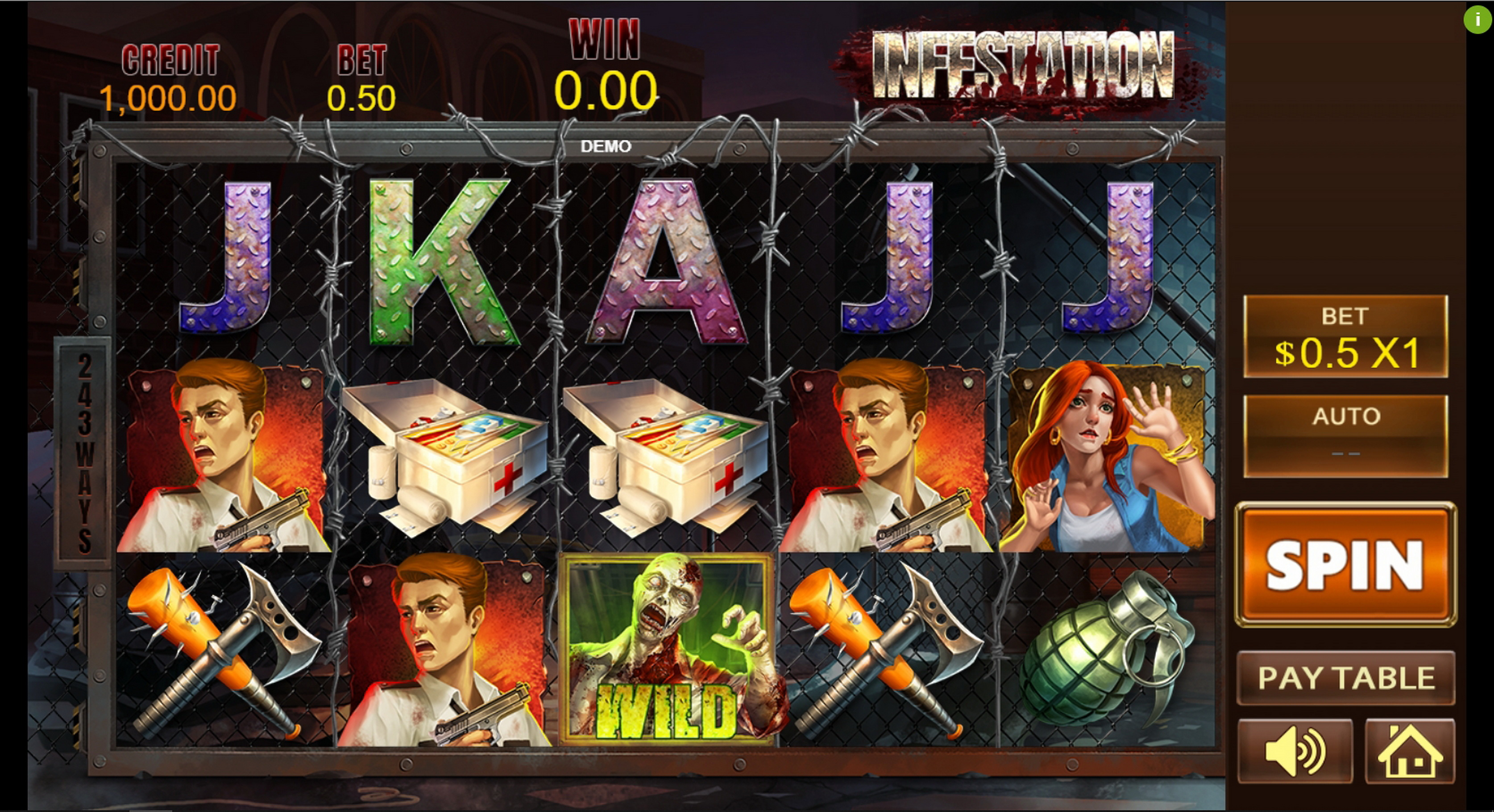 Reels in Infestation Slot Game by PlayStar