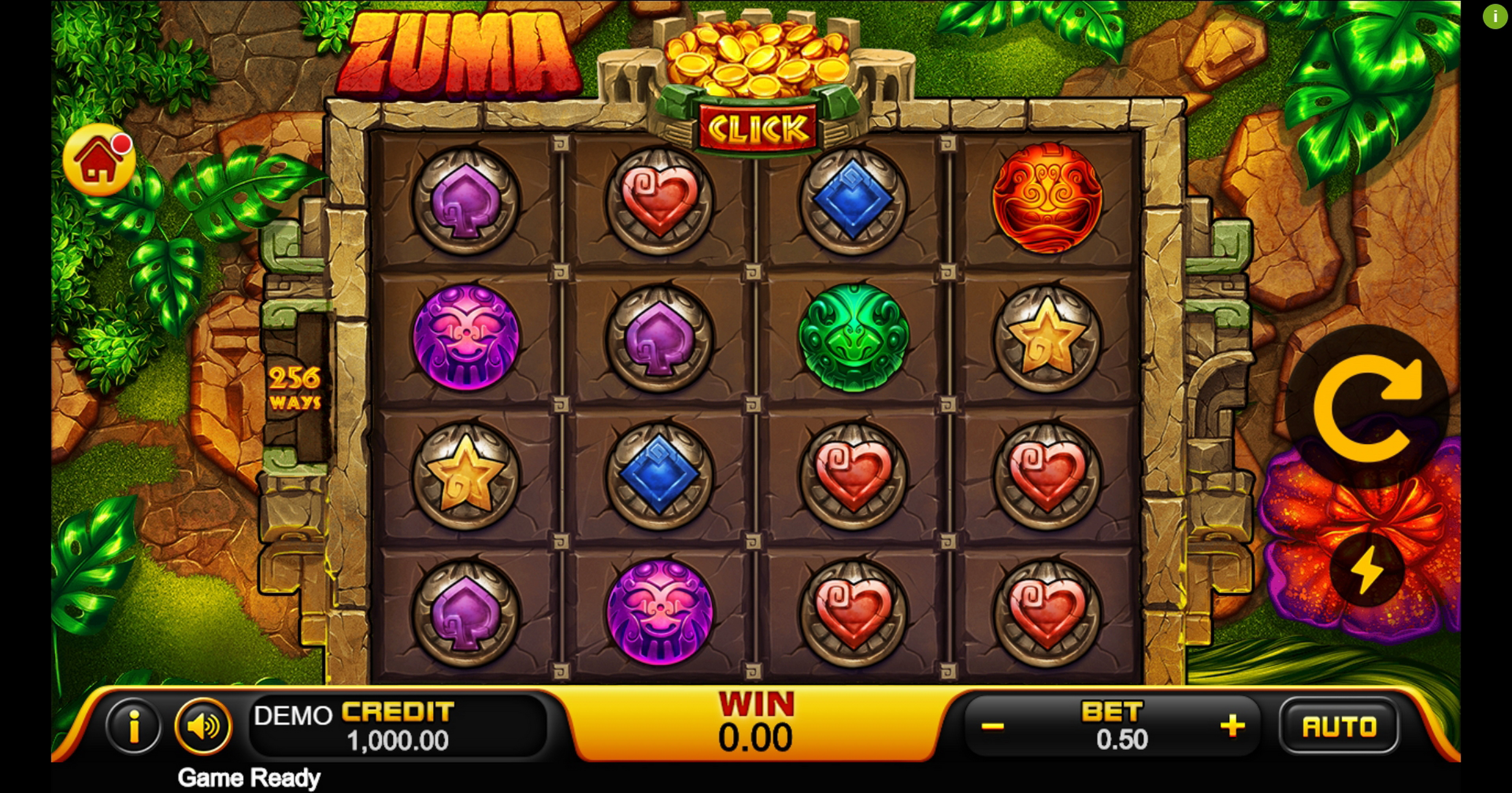 Reels in Zuma (PlayStar) Slot Game by PlayStar