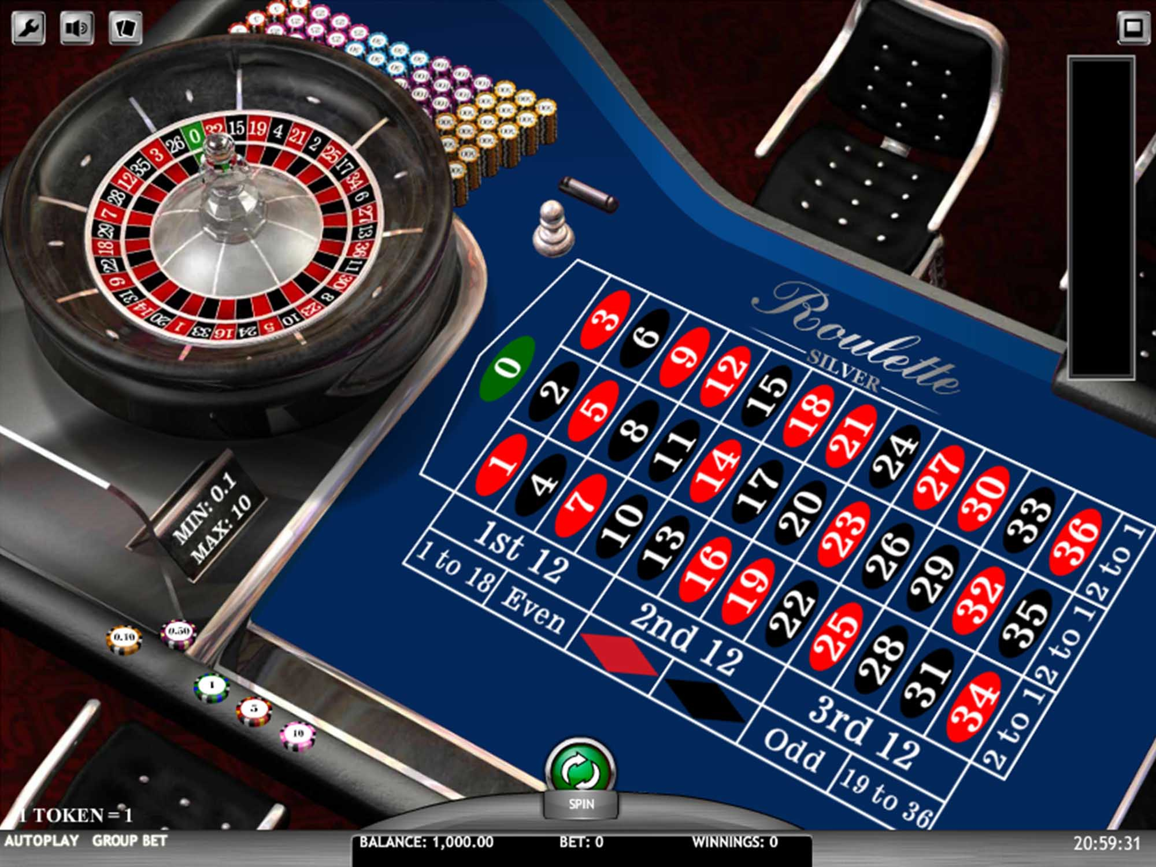 The European Roulette Silver Online Slot Demo Game by iSoftBet