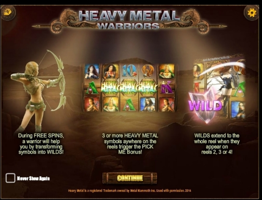 Play Heavy Metal Warriors Free Casino Slot Game by iSoftBet