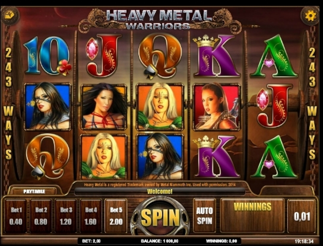 Reels in Heavy Metal Warriors Slot Game by iSoftBet
