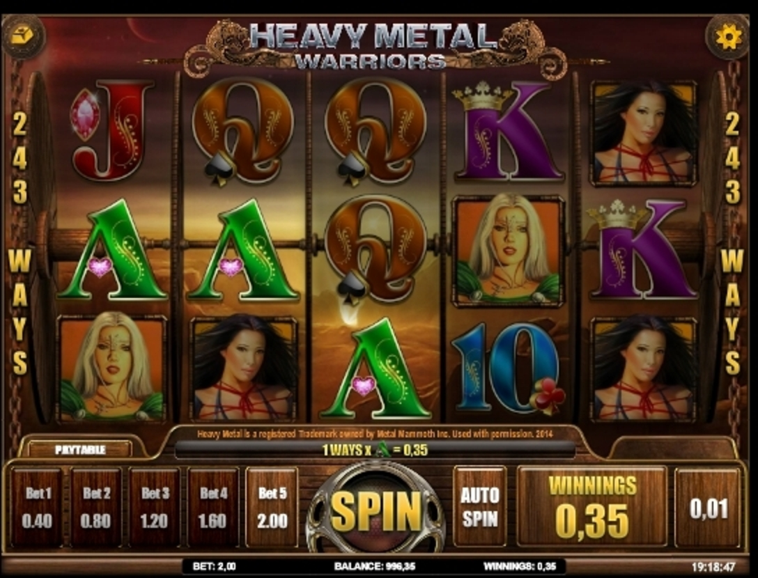 Win Money in Heavy Metal Warriors Free Slot Game by iSoftBet