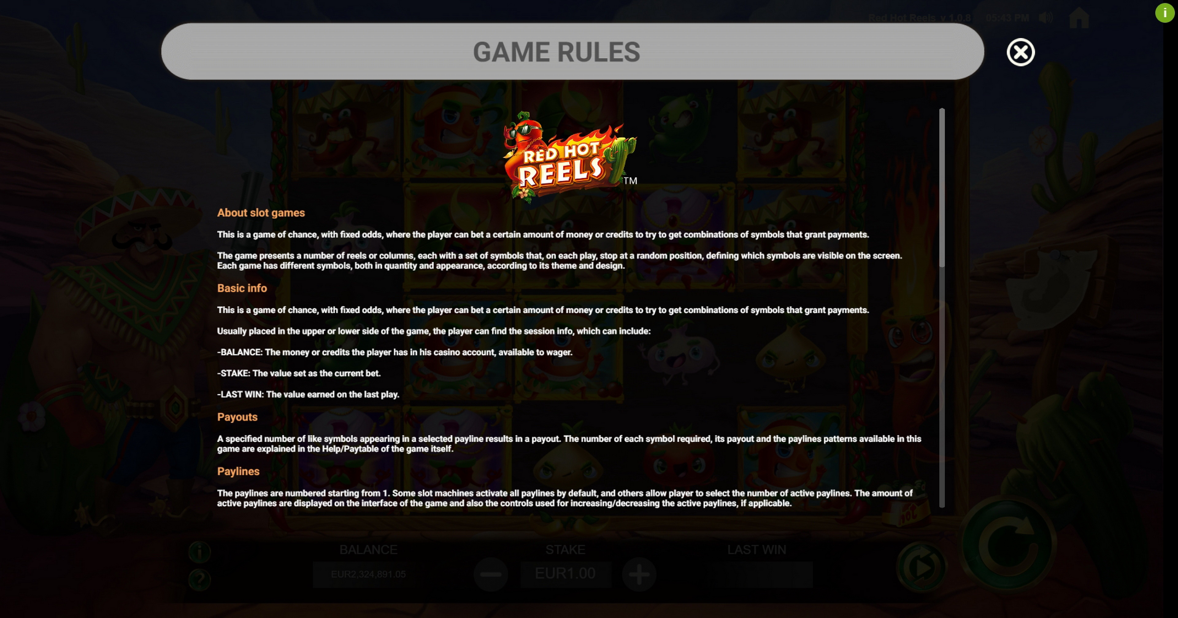 Reels in Red Hot Reels Slot Game by Jade Rabbit Gaming