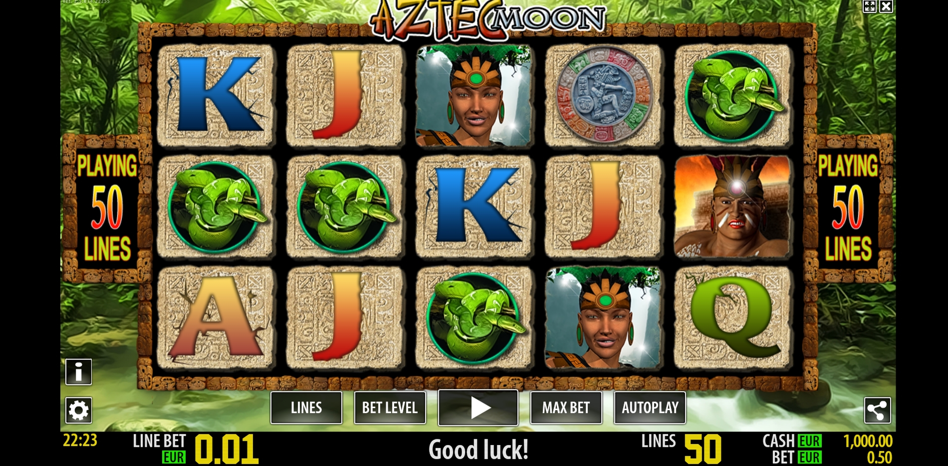 Reels in Aztec Moon Slot Game by Magic Dreams