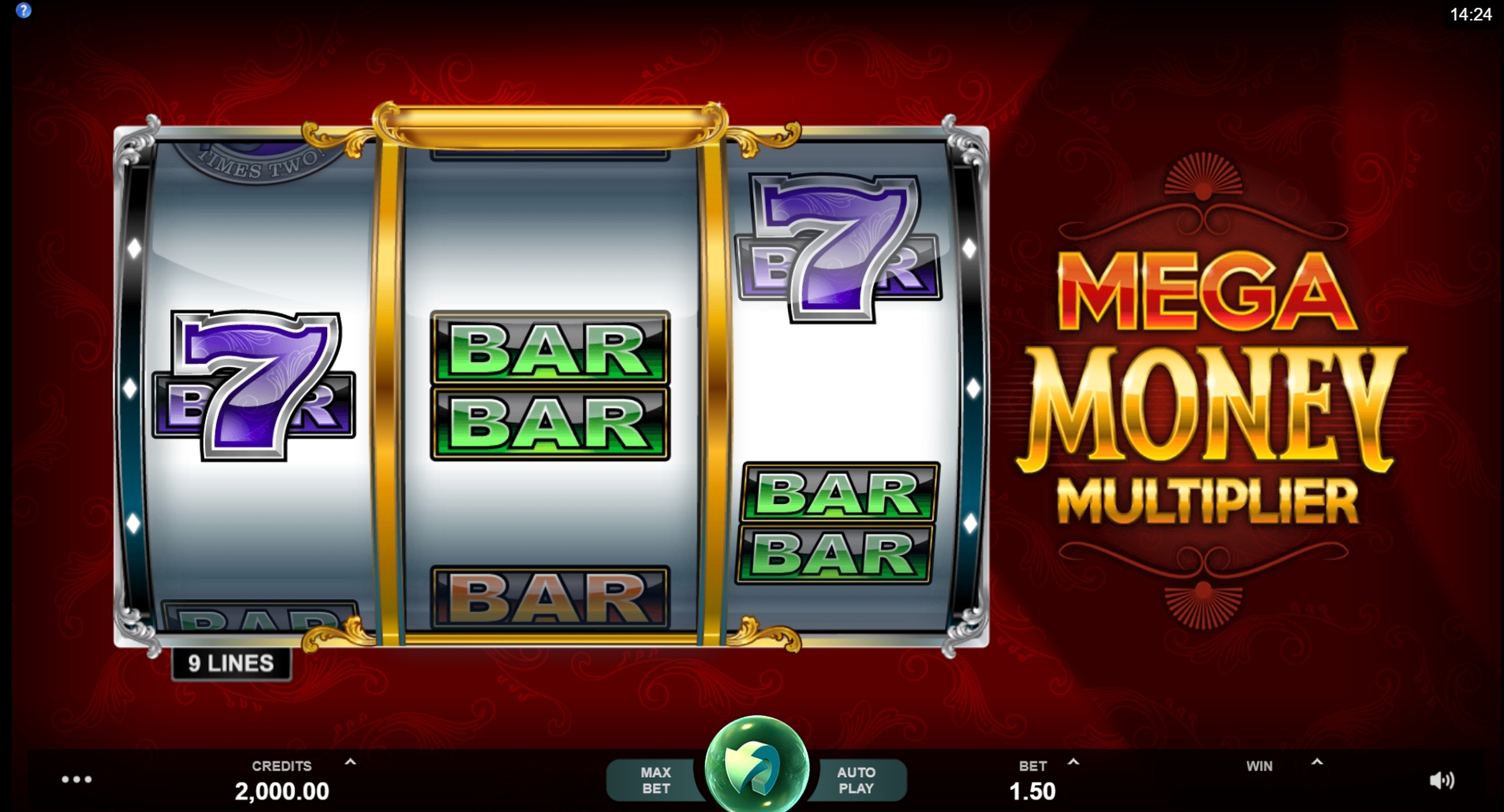 Reels in Mega Money Multiplier Slot Game by MahiGaming