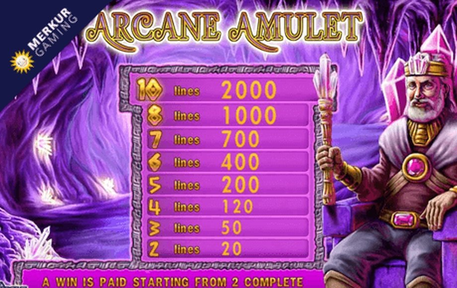 The Arcane Amulet Online Slot Demo Game by Merkur Gaming