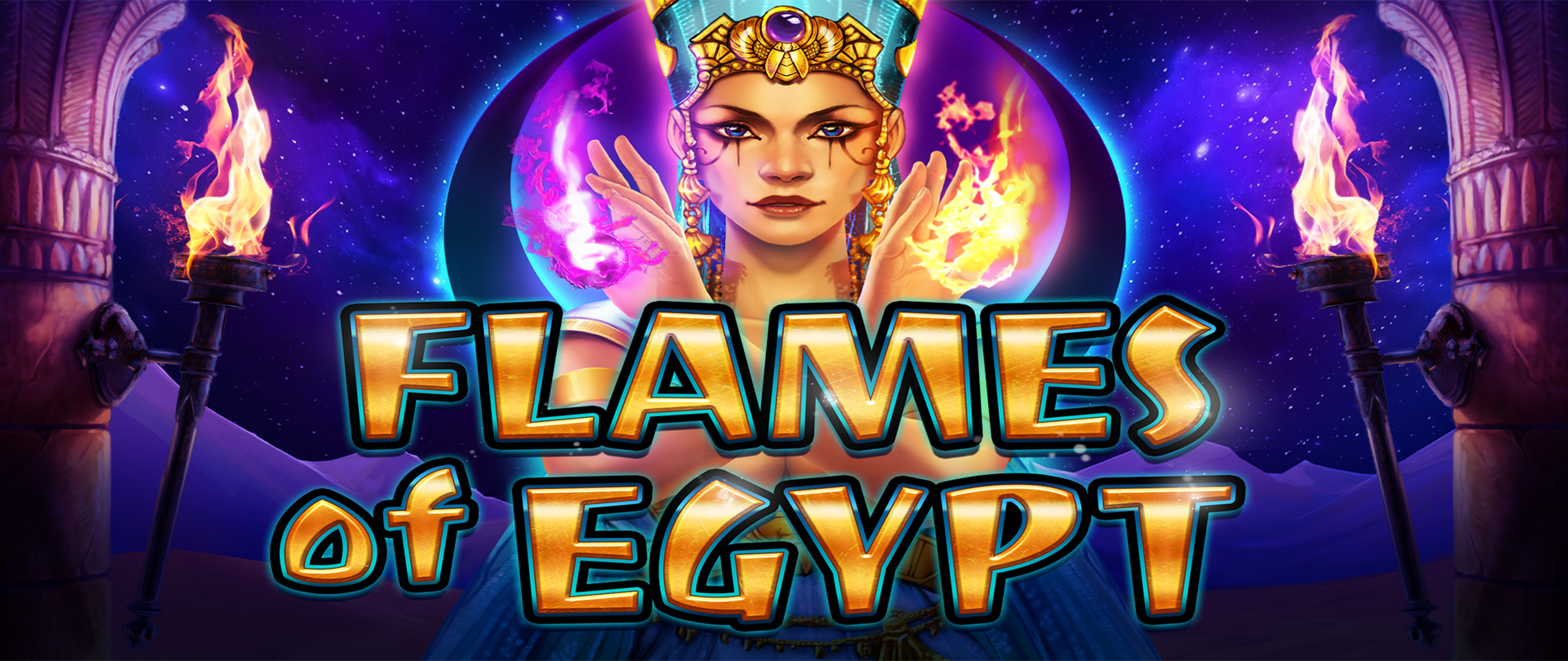 The Flames Of Egypt Online Slot Demo Game by Merkur Gaming