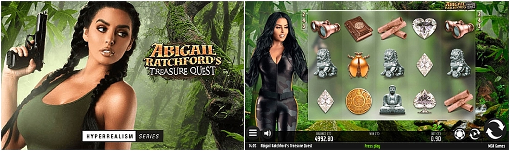 Abigail Ratchfords Treasure Quest Online Slot Demo Game by MGA