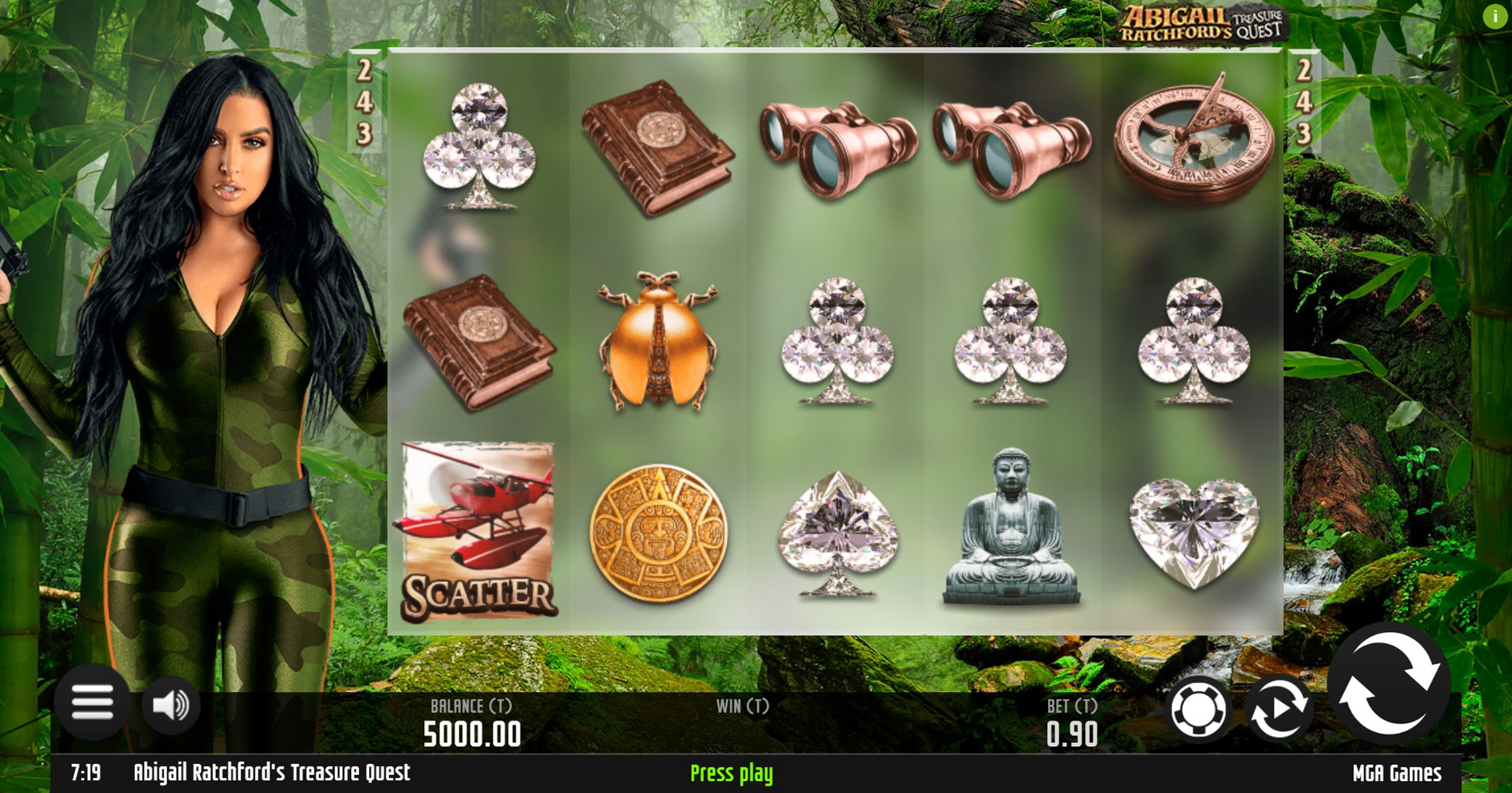 Reels in Abigail Ratchfords Treasure Quest Slot Game by MGA