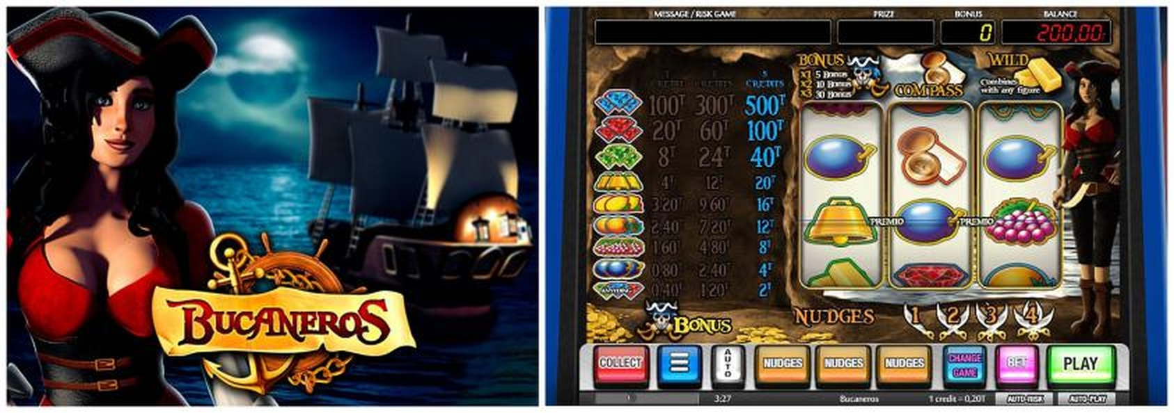 The Bucaneros Online Slot Demo Game by MGA