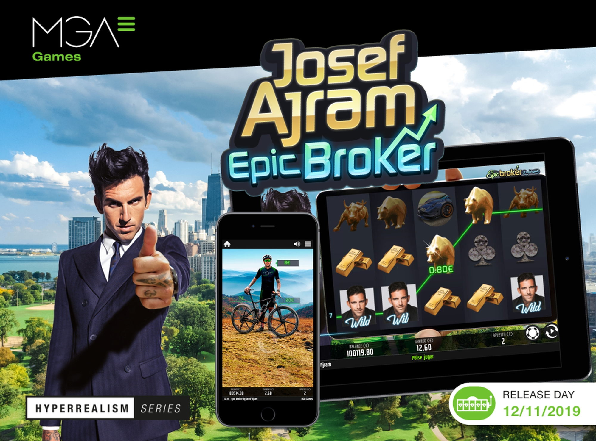 Josef Ajram Epic Broker Online Slot Demo Game by MGA