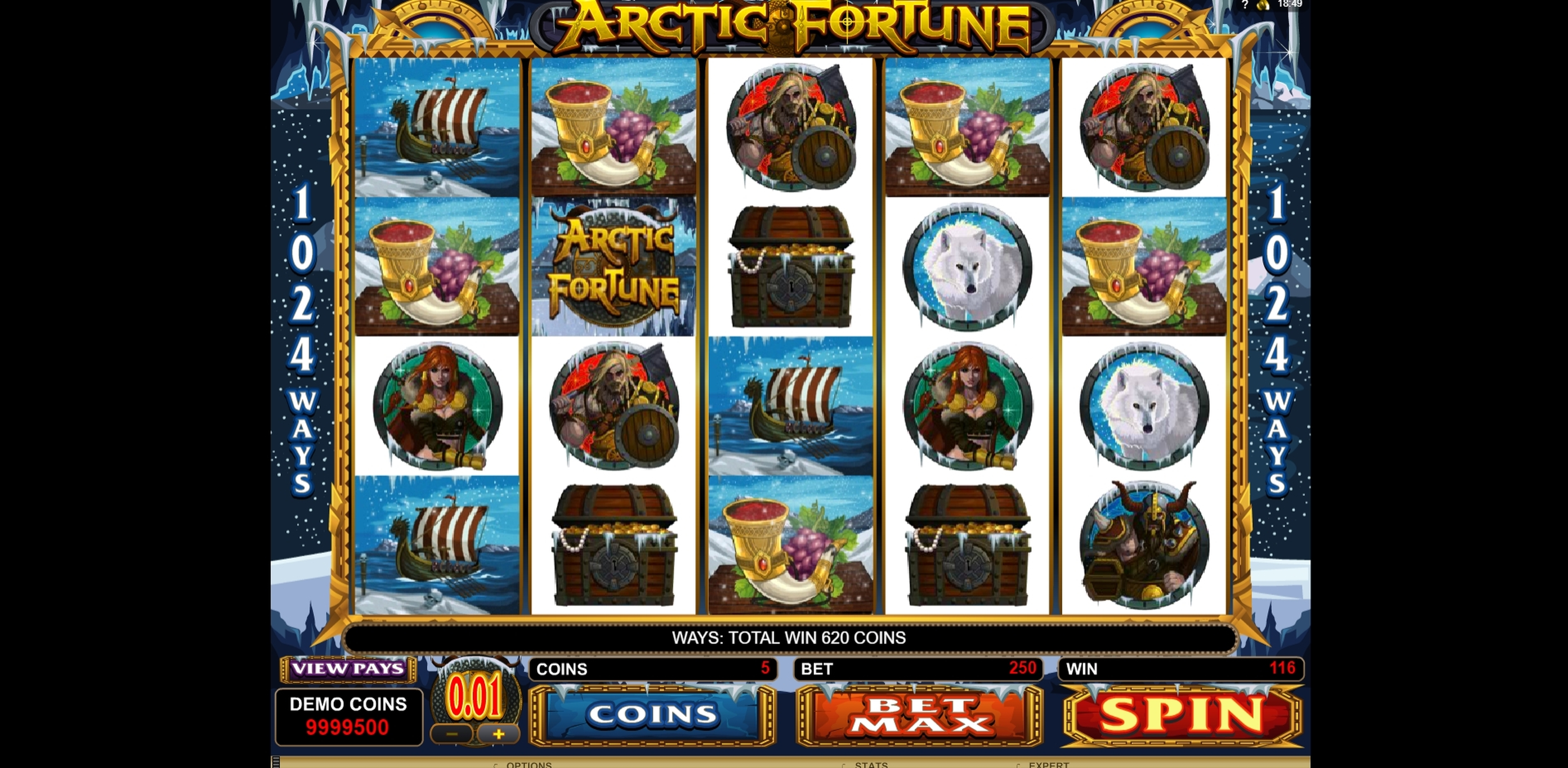 Win Money in Arctic Fortune Free Slot Game by Microgaming