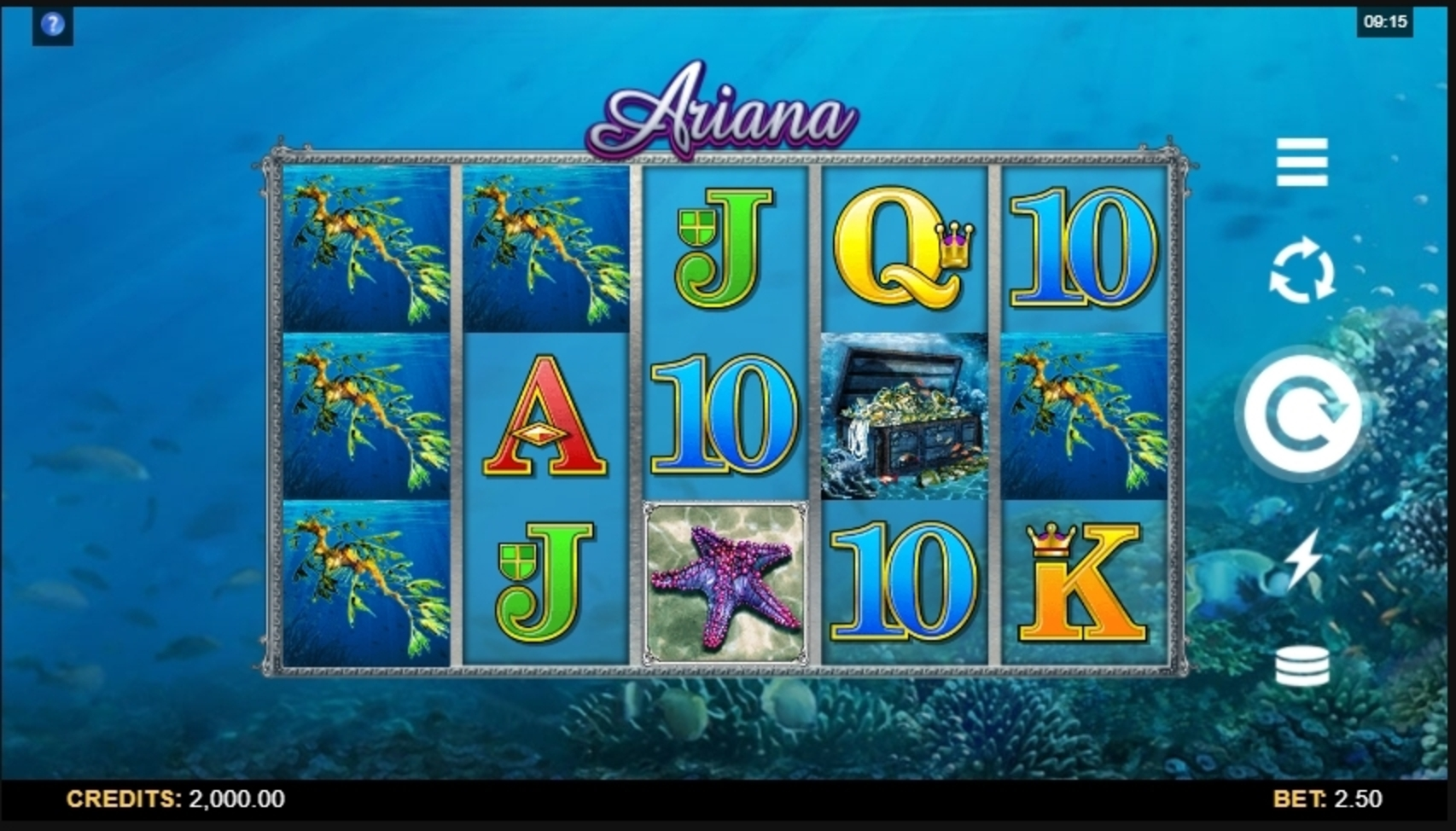 Reels in Ariana Slot Game by Microgaming