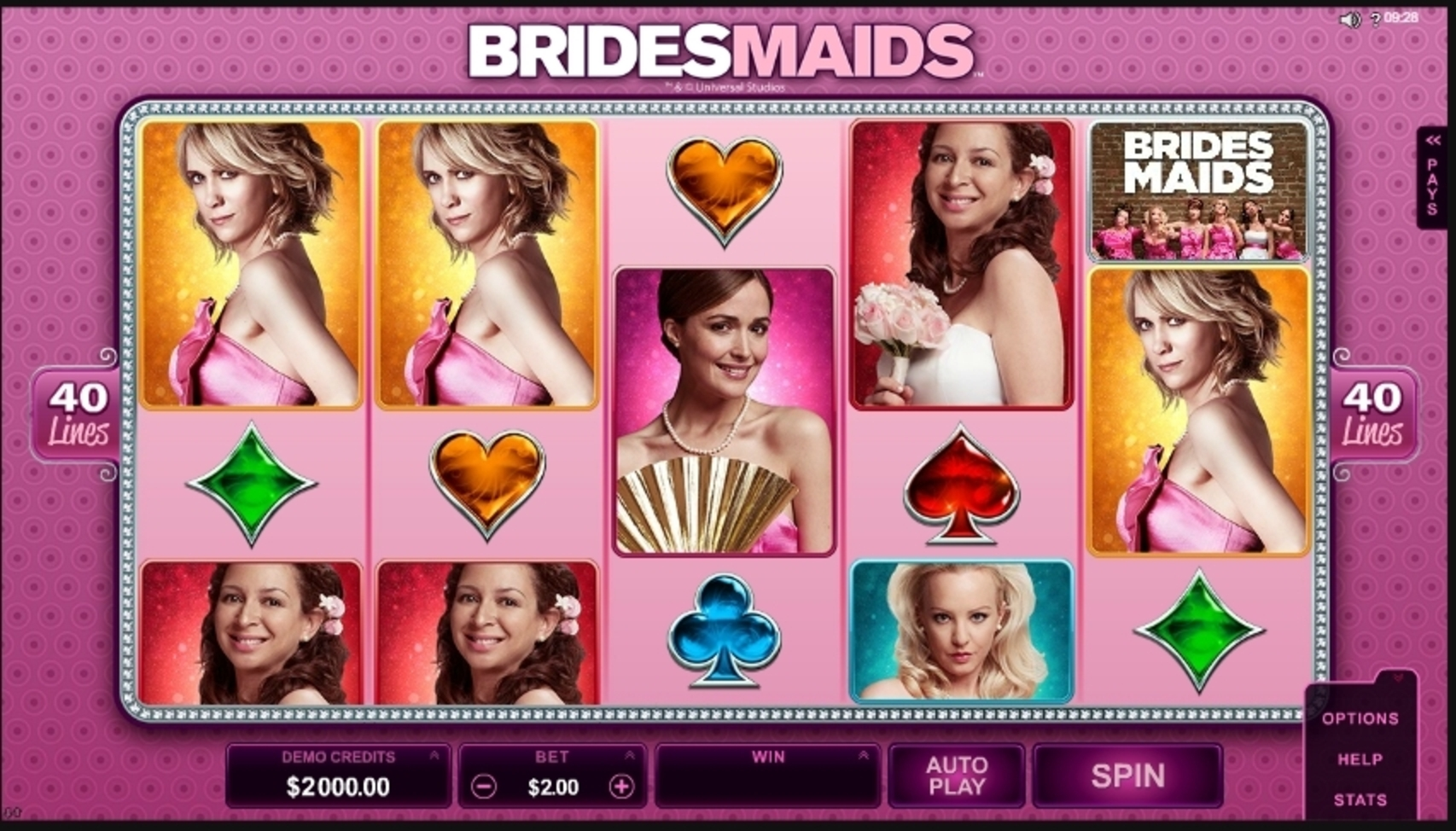 Reels in Bridesmaids Slot Game by Microgaming