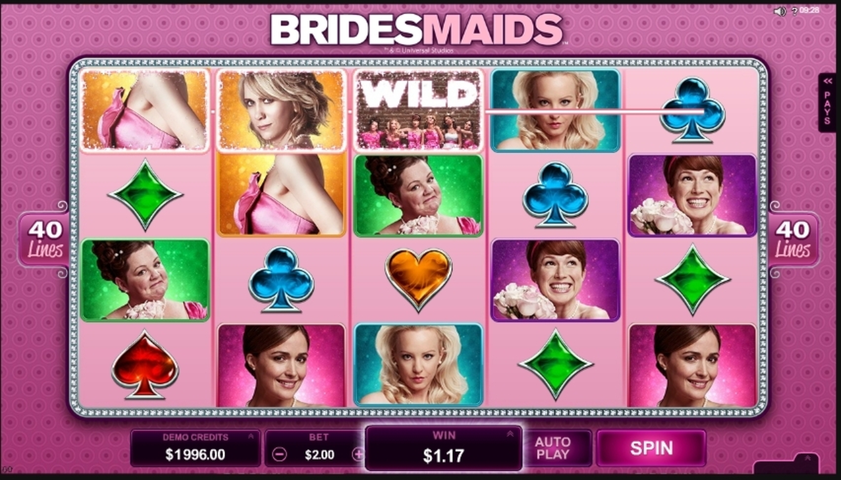 Win Money in Bridesmaids Free Slot Game by Microgaming