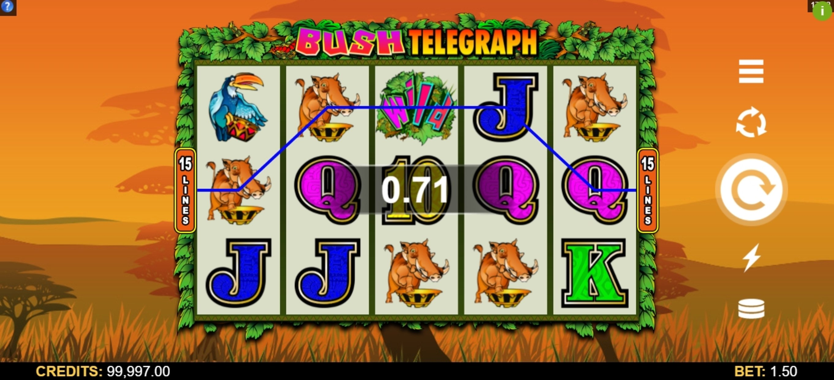 Win Money in Bush Telegraph Free Slot Game by Microgaming