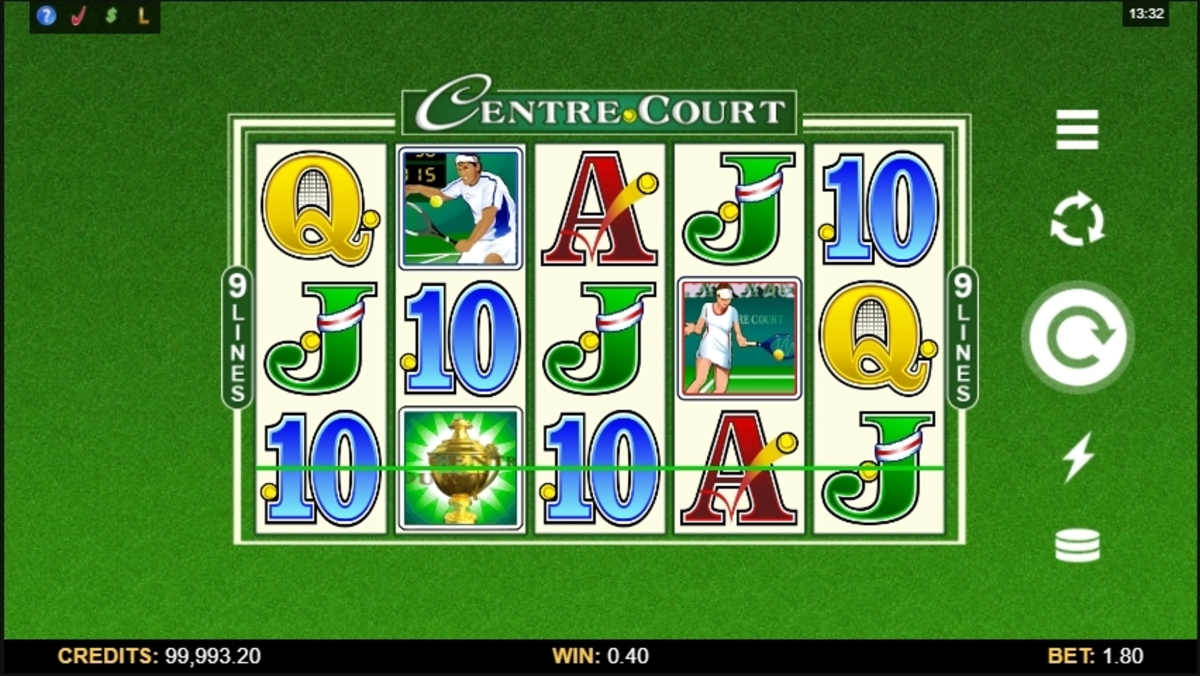 Win Money in Centre Court Free Slot Game by Microgaming