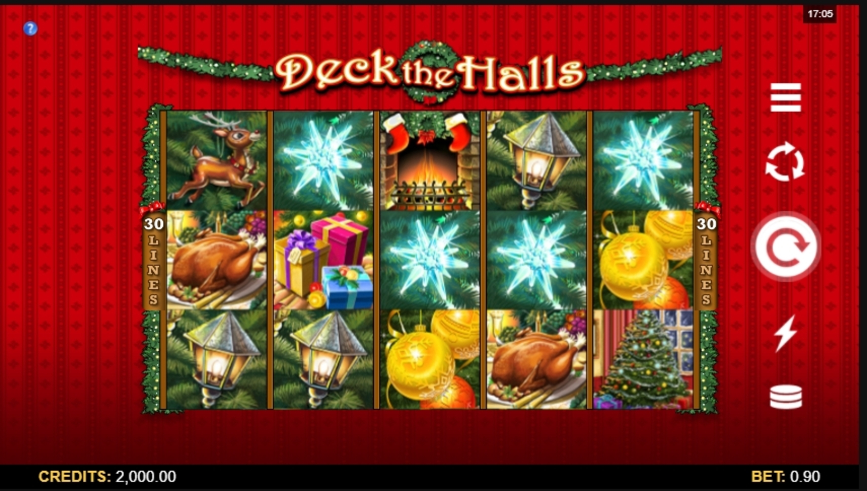 Reels in Deck the Halls Slot Game by Microgaming