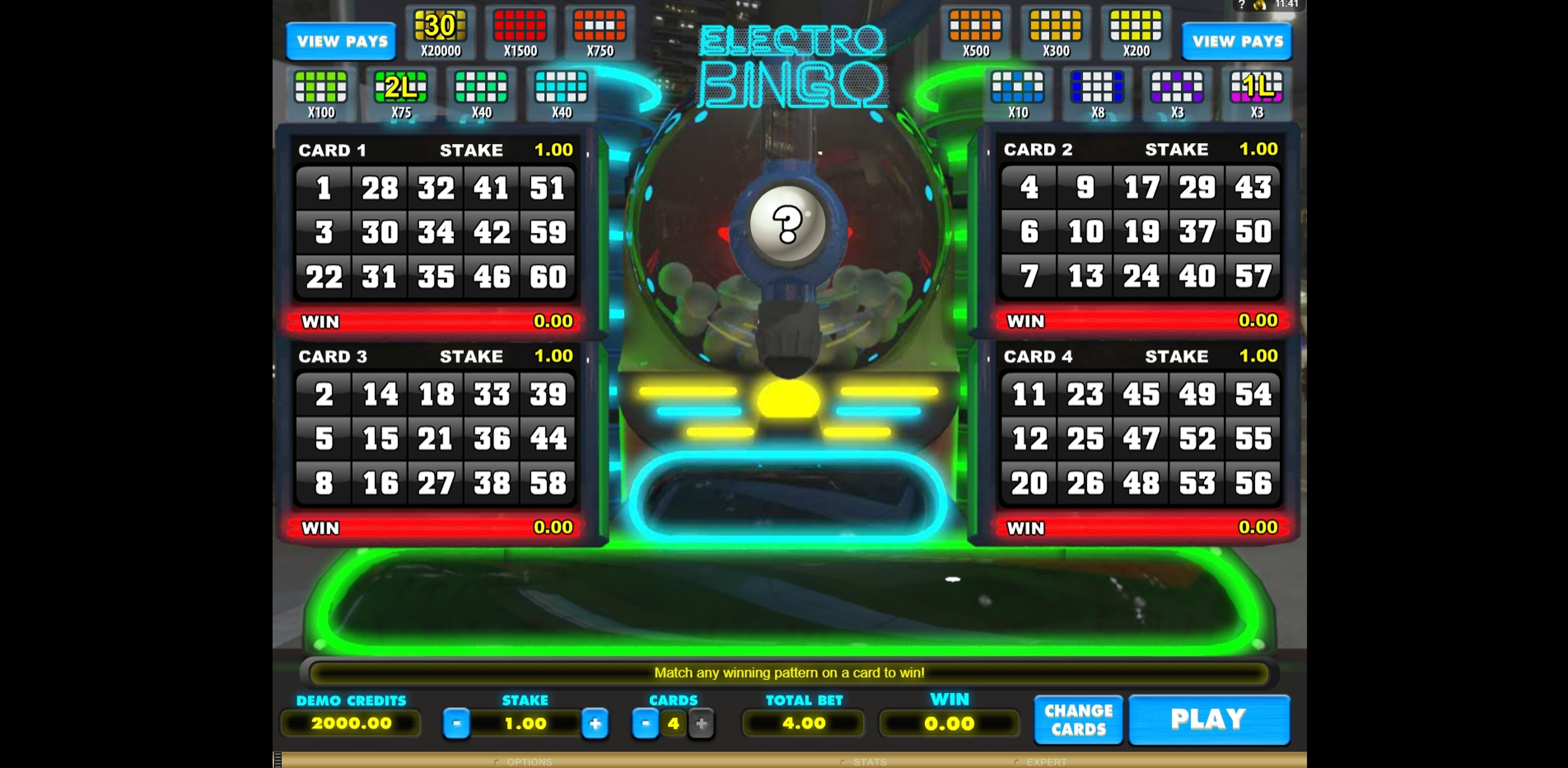 Reels in Electro Bingo Slot Game by Microgaming