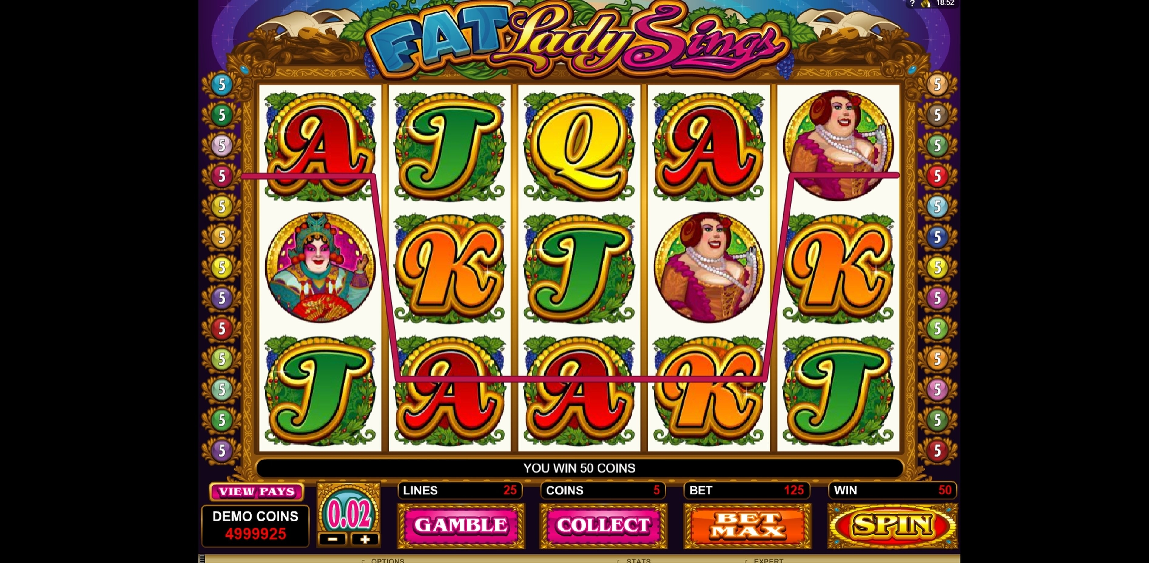 Win Money in Fat Lady Sings Free Slot Game by Microgaming