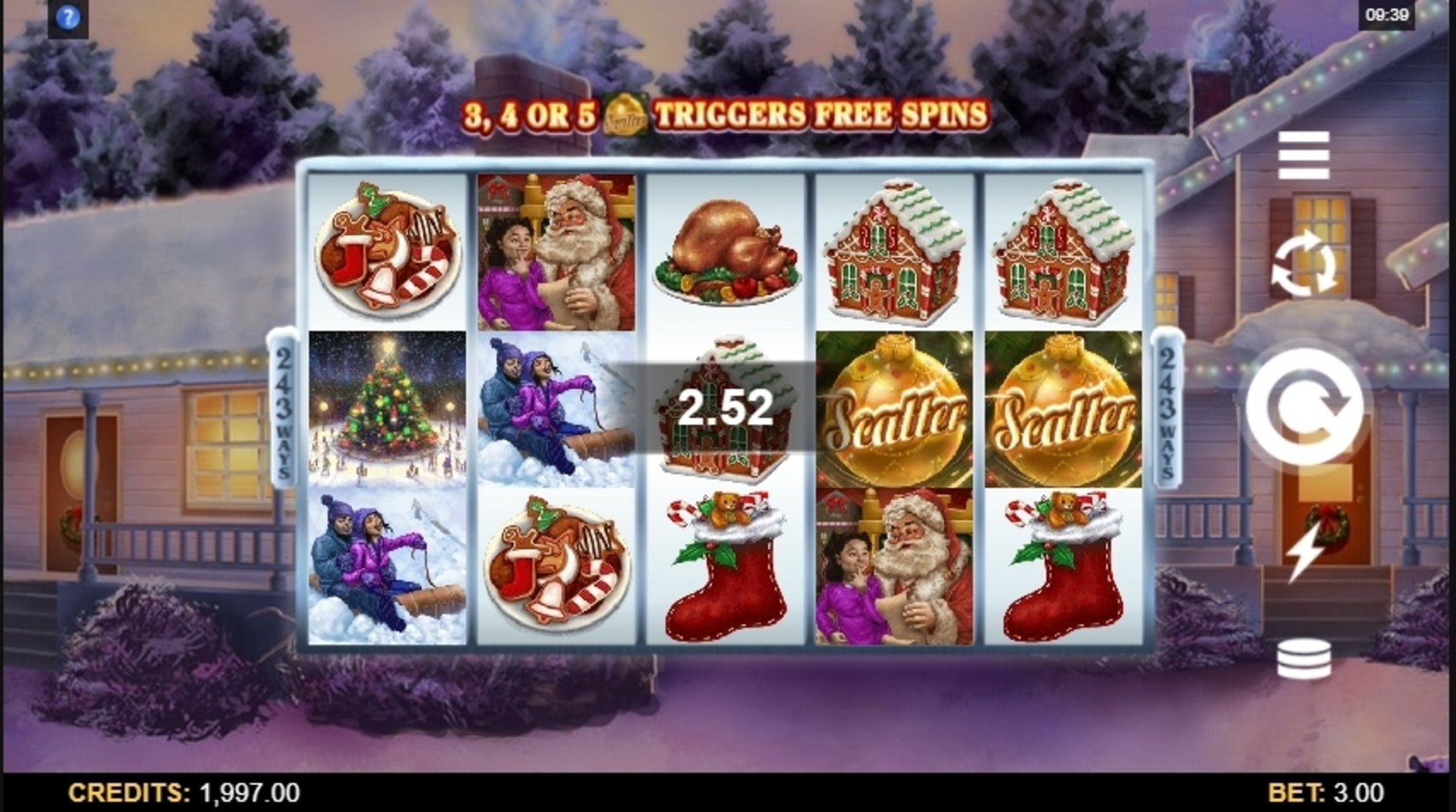 Win Money in Happy Holidays Free Slot Game by Microgaming
