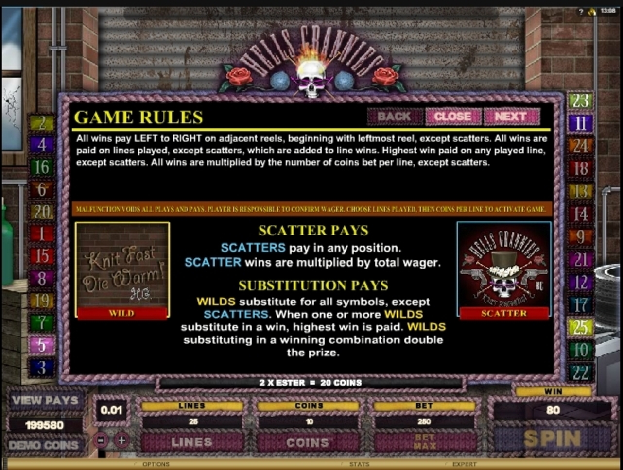 Info of Hells Grannies Slot Game by Microgaming