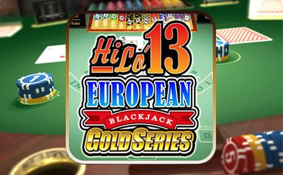 The Hi Lo 13 European Blackjack Gold Online Slot Demo Game by Microgaming