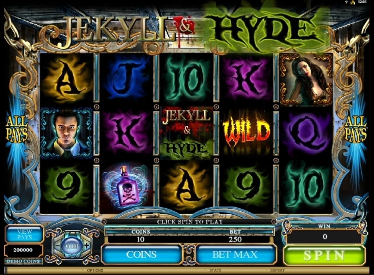 Reels in Jekyll And Hyde (Microgaming) Slot Game by Microgaming