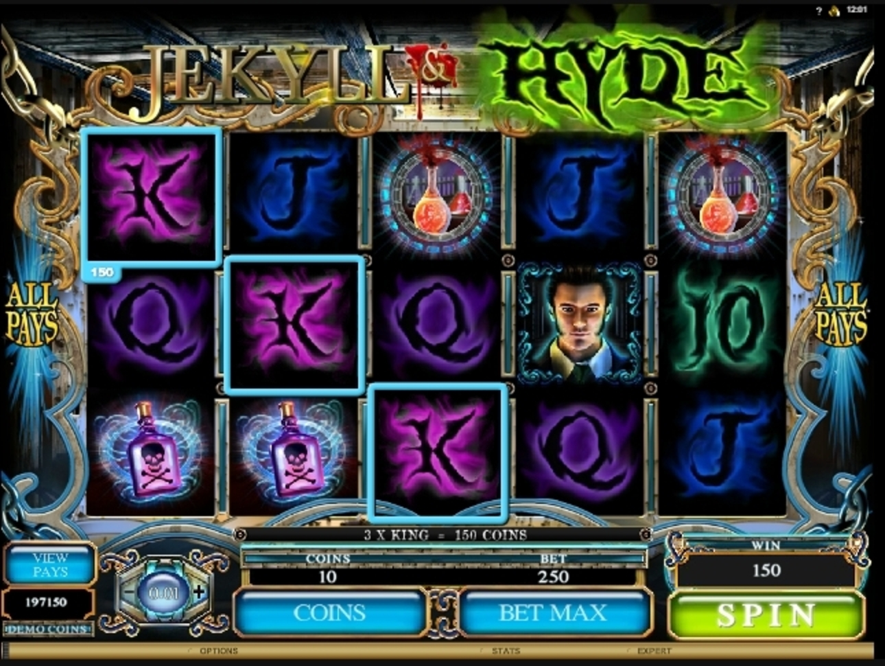 Win Money in Jekyll And Hyde (Microgaming) Free Slot Game by Microgaming