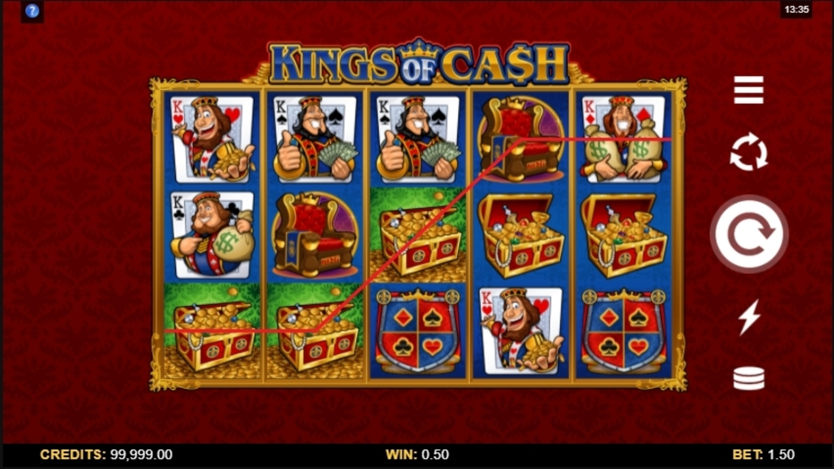 Win Money in Kings of Cash Free Slot Game by Microgaming