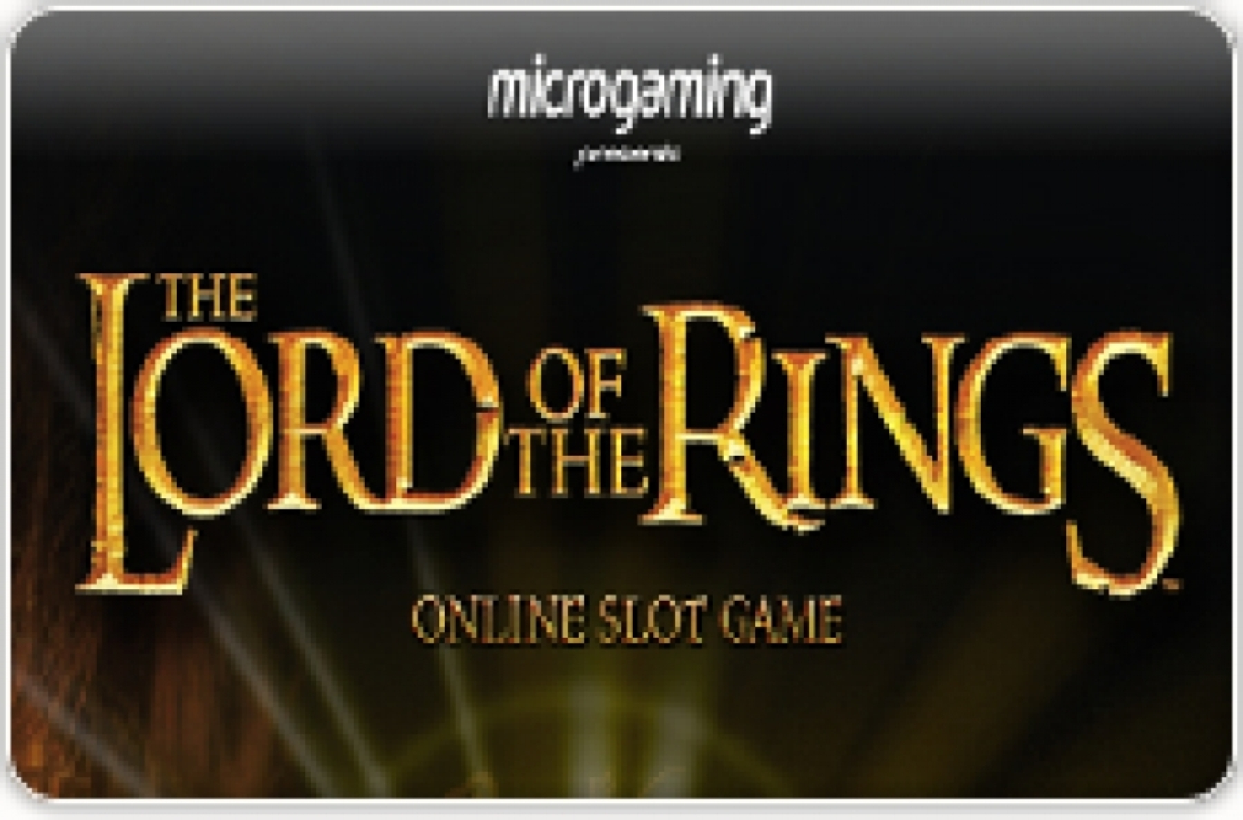 Lord of the Rings Jackpot Online Slot Demo Game by Microgaming