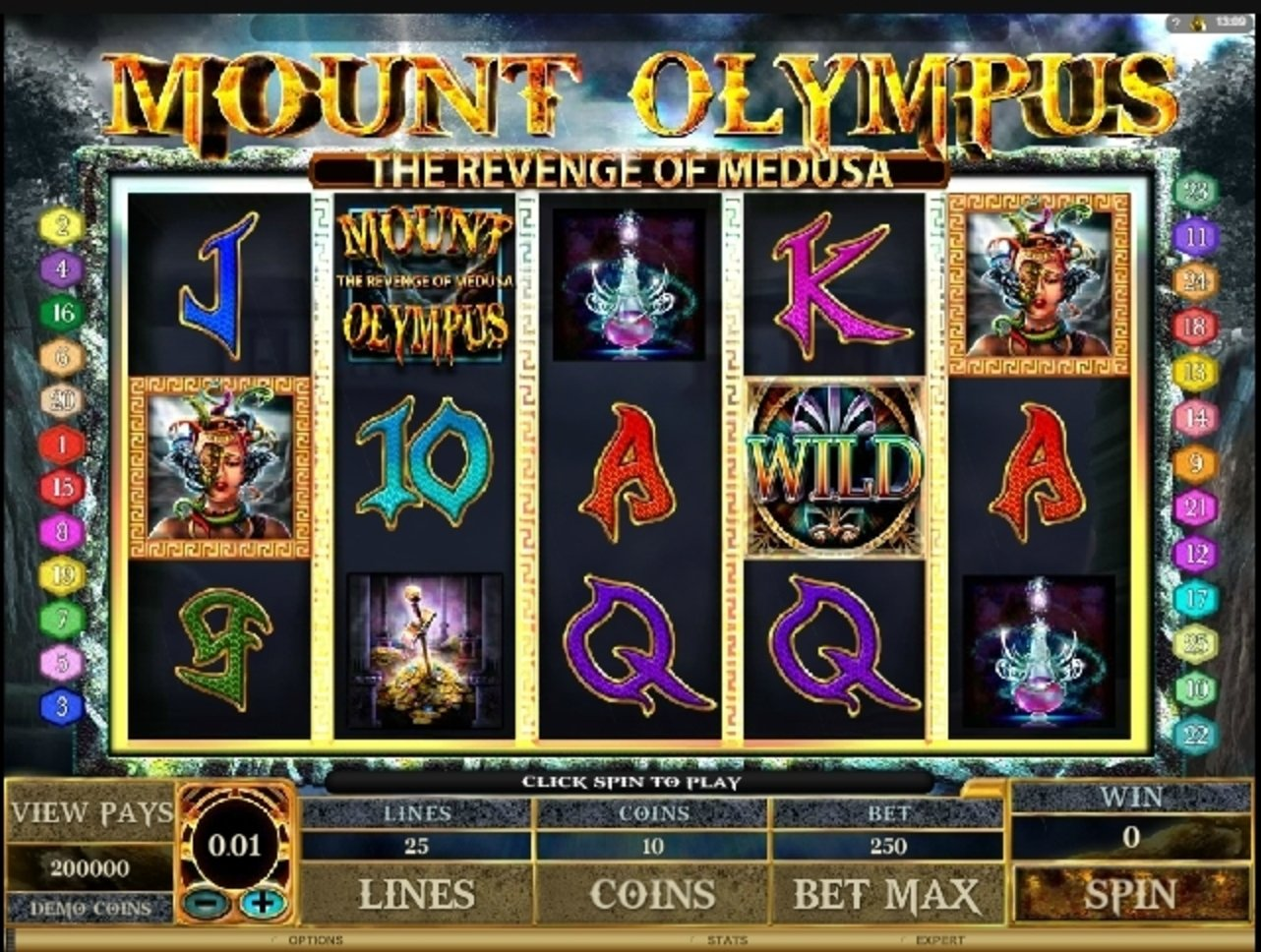 Reels in Mount Olympus Slot Game by Microgaming