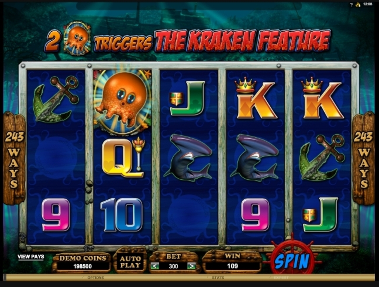 Win Money in Octopays Free Slot Game by Microgaming