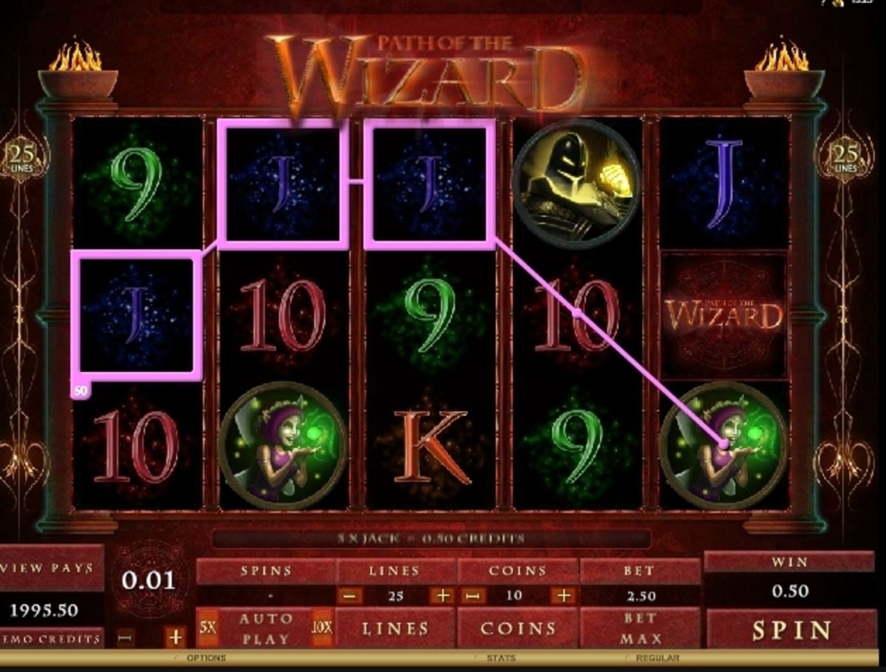 Win Money in Path of the Wizard Free Slot Game by Microgaming