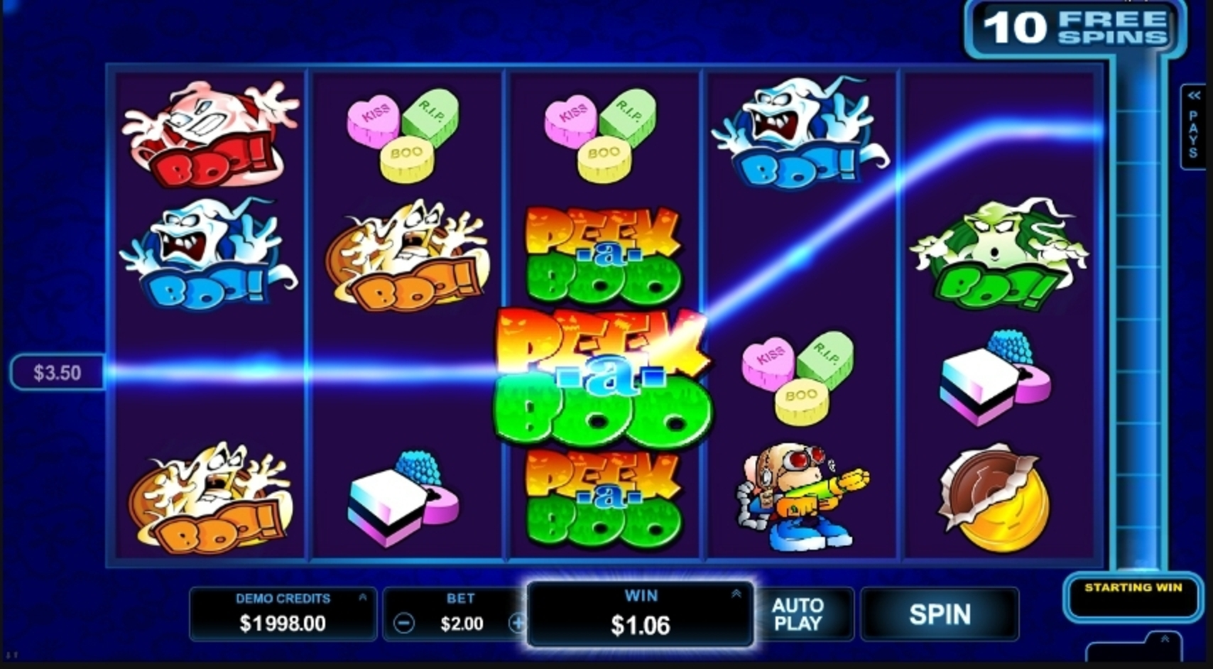 Win Money in Peek-a-Boo Free Slot Game by Microgaming