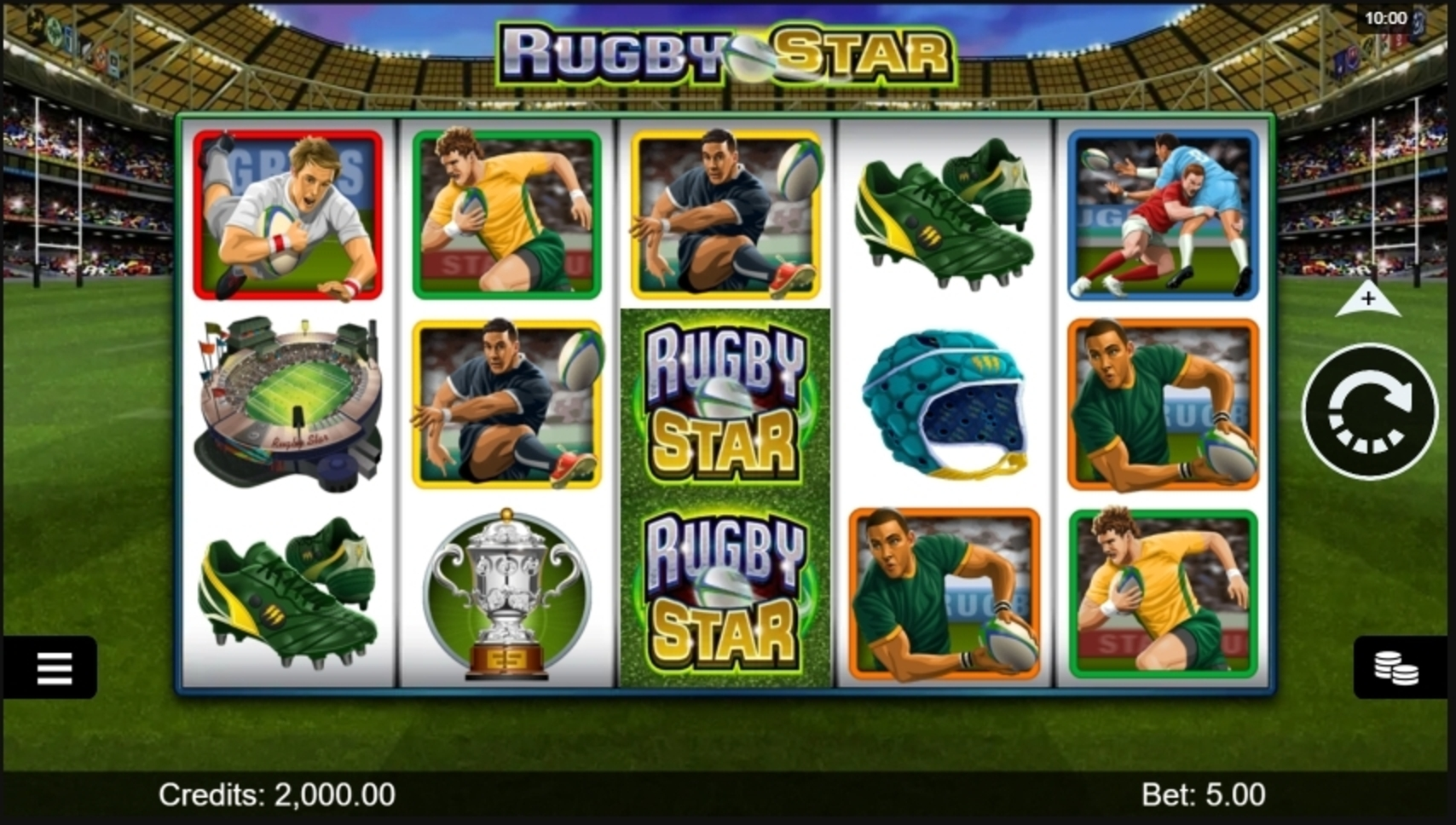 Reels in Rugby Star Slot Game by Microgaming
