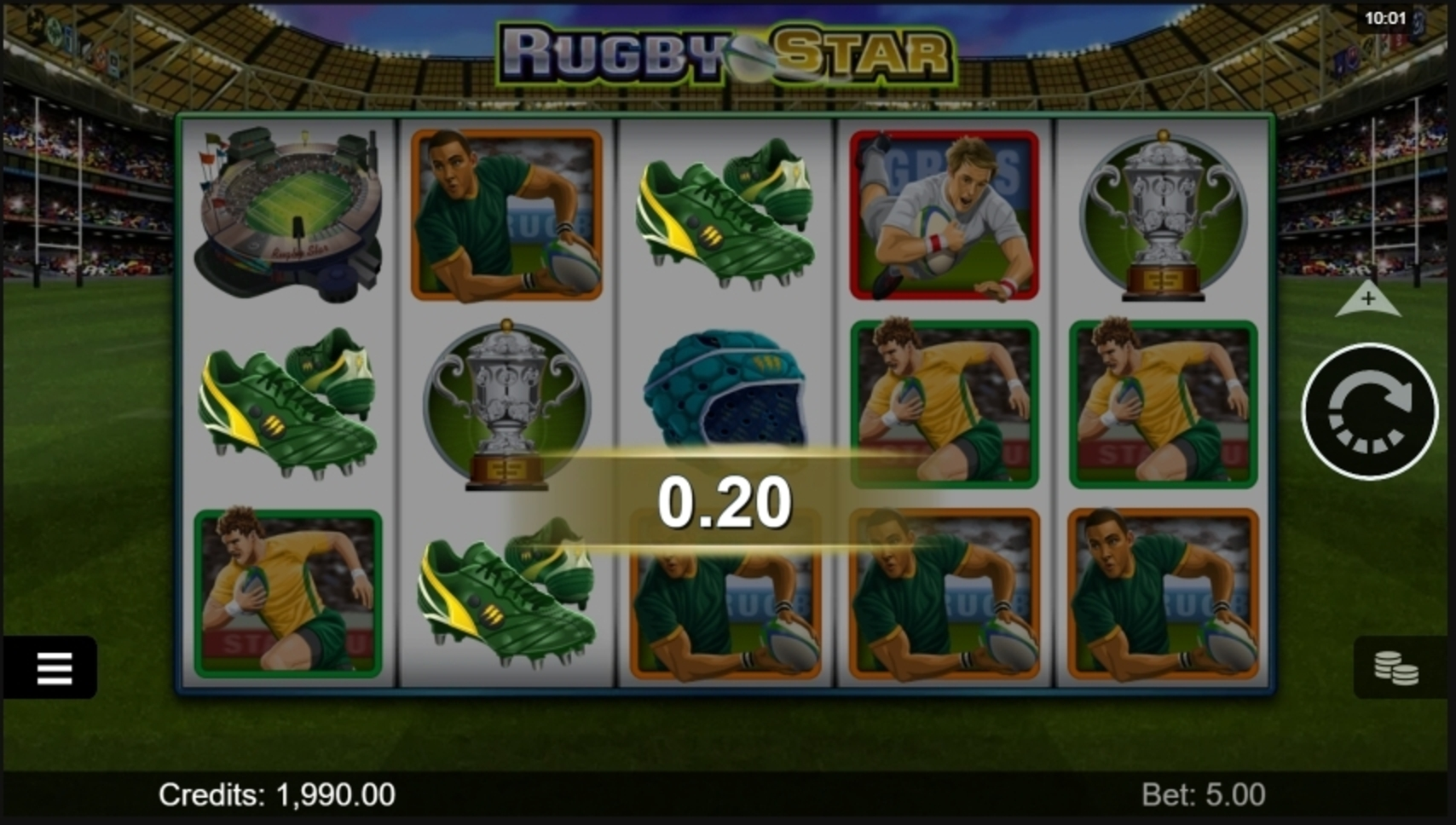 Win Money in Rugby Star Free Slot Game by Microgaming